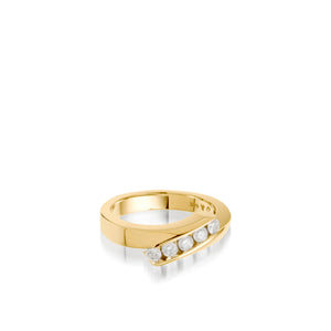 Women's 14 karat yellow gold Boundless Diamond Ring