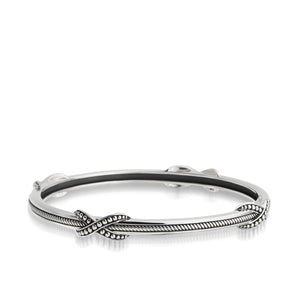 Women's Sterling Silver Antigua Curve Bangle Bracelet