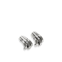Load image into Gallery viewer, Women's 14 karat White Gold Originate Diamond Curl Earrings