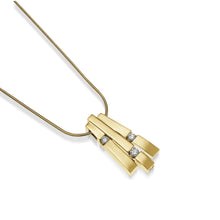 Load image into Gallery viewer, Women's 14 karat Yellow Gold Originate Diamond Pendant Necklace