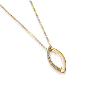 Paris Pave Diamond Pendant Necklace