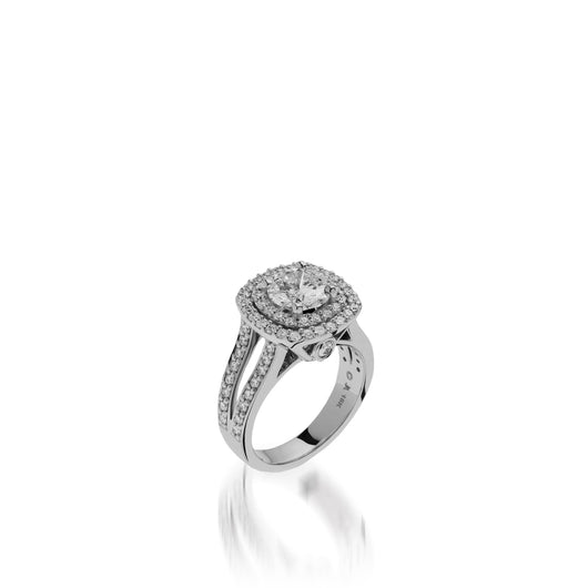 White Gold Cashmere Diamond Engagement Ring