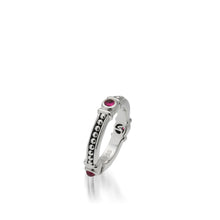 Load image into Gallery viewer, Women's Sterling Silver Antigua Ruby Stack Ring