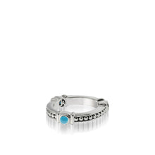 Load image into Gallery viewer, Women's Sterling Silver Antigua Turquoise Stack Ring