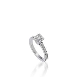 Satin Luminaire Diamond Ring