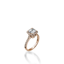 Load image into Gallery viewer, Satin Princess Cut Diamond Engagement Ring