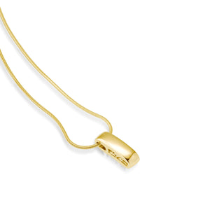 Women's 14 karat Yellow Gold Devotion Plain Pendant Necklace