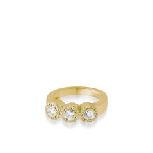 Load image into Gallery viewer, Women's 18 karat Yellow Gold Affection Diamond Ring