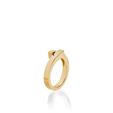 Load image into Gallery viewer, Women's 14 karat Yellow Gold Pivot Plain Ring