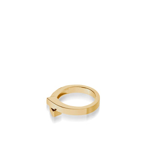 Women's 14 karat Yellow Gold Pivot Plain Ring