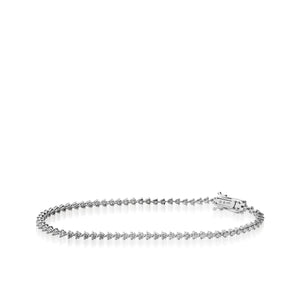 Women's 14 karat White Gold Monaco Diamond Tennis Bracelet