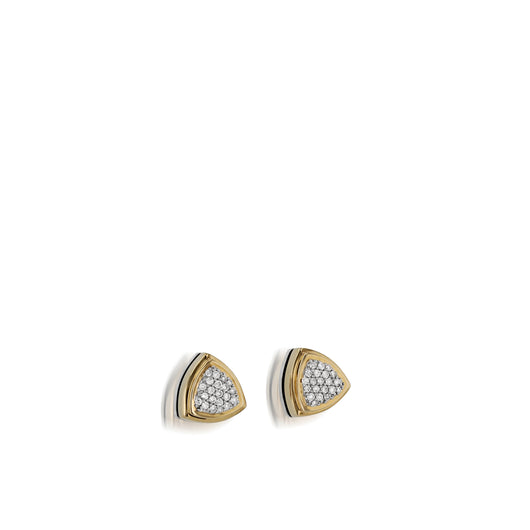 Arrivo Pave Diamond Stud Earrings
