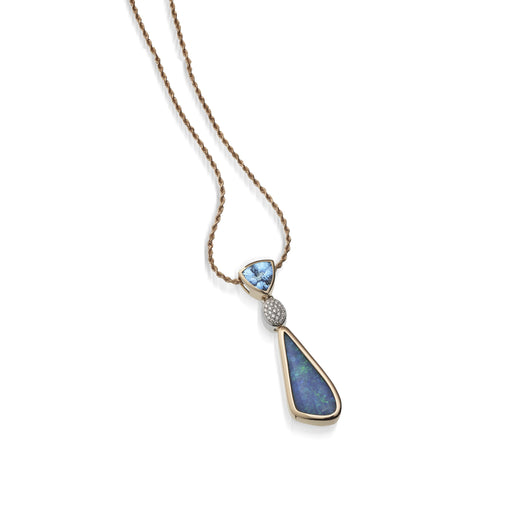 Women's 18 karat rose and white gold Signature Opal Pendant