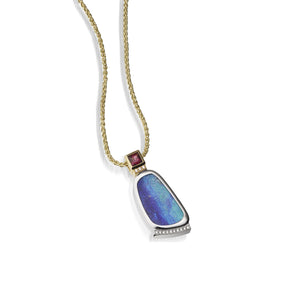 Women's 18 karat yellow and white gold Signature Opal Pendant