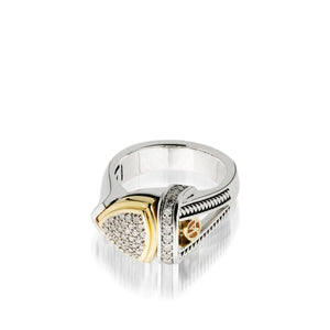 Arrivo Small Pave Diamond Ring