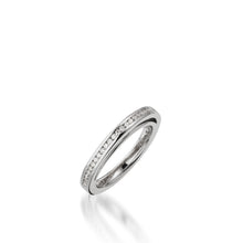 Load image into Gallery viewer, Attraction White Gold, Diamond Wedding Band