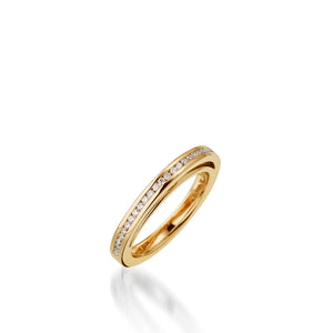 Attraction Yellow Gold, Diamond Wedding Band