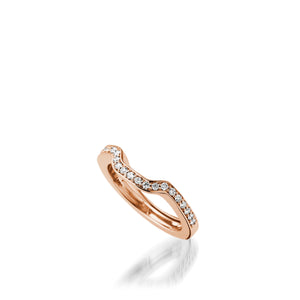 Chantilly Rose Gold, Diamond Wedding Band