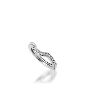 Chantilly White Gold, Diamond Wedding Band