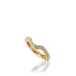 Chantilly Yelow Gold, Diamond Wedding Band