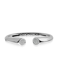 Load image into Gallery viewer, Women's 14 karat White Gold Gemini Diamond Hinged Bracelet