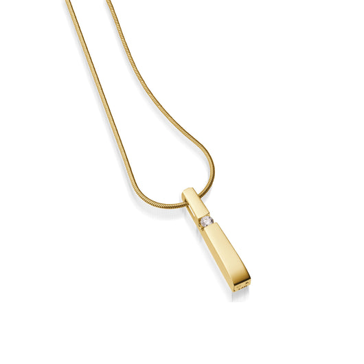 Women's 14 karat Yellow Gold Originate Diamond Pendant Necklace