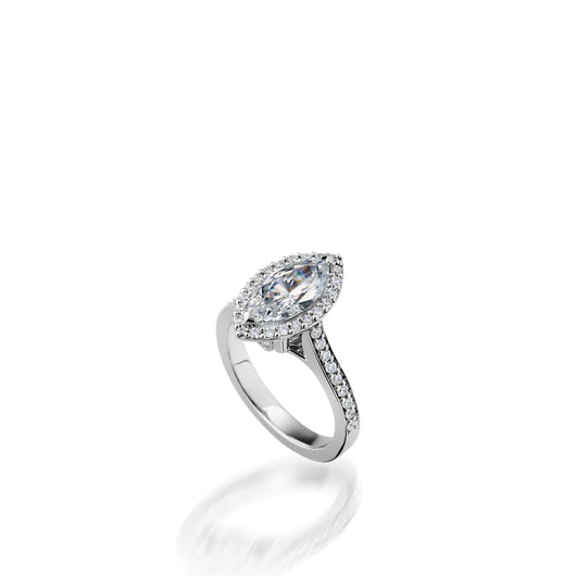 Satin Marquise Engagement Ring, 1 Carat Setting
