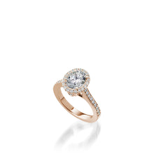 Load image into Gallery viewer, Satin Oval Diamond Engagement Ring