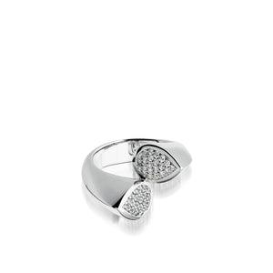 Gemini Pave Diamond Ring