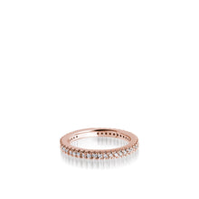 Load image into Gallery viewer, Women's 14 karat Rose Gold Essence Pave Diamond Stack Ring