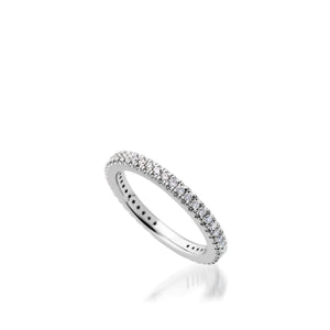 Women's 14 karat White Gold Essence Diamond Stack Ring