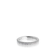 Load image into Gallery viewer, Women's 14 karat White Gold Essence Diamond Stack Ring