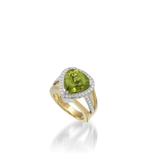 Signature Peridot and Diamond Ring