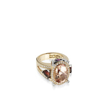 Load image into Gallery viewer, 18 karat rose and white gold Signature Morganite Ring