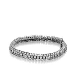 Monaco Three Row 6.00 Carat Tennis Bracelet