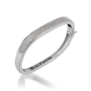 Essence Five-Row Pave Diamond Bracelet