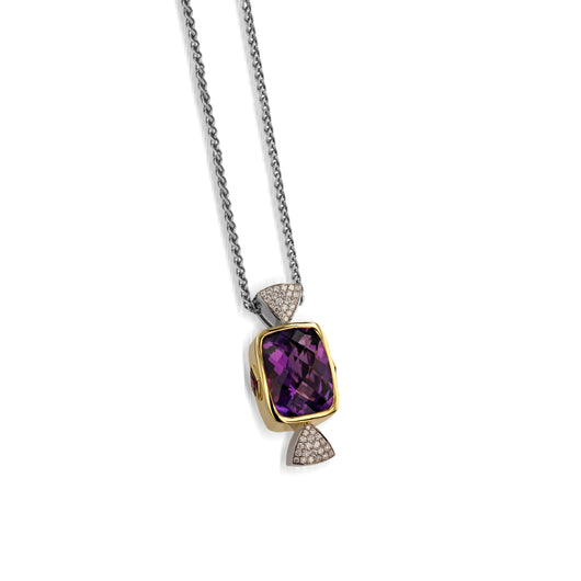 Signature Amethyst and Diamond Pendant Necklace