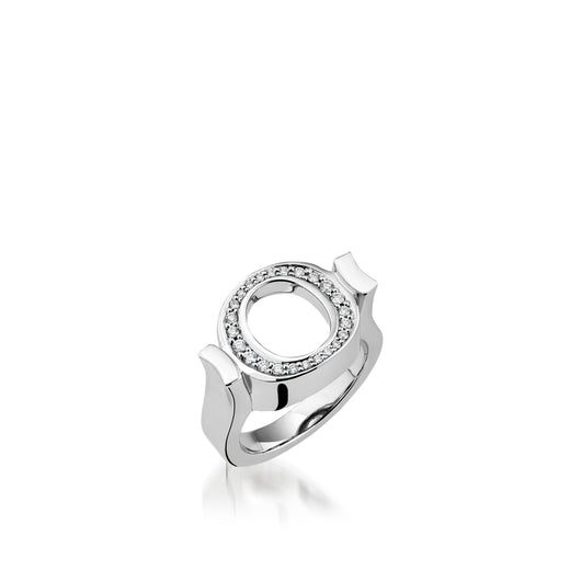 Endearment Ring with Pave Diamonds