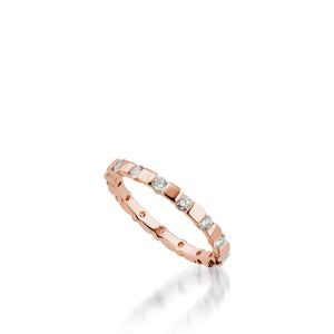 Women's 18 karat rose gold Orion Diamond Stack Ring