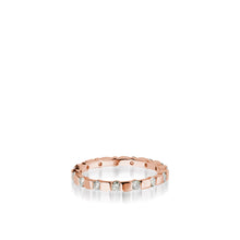 Load image into Gallery viewer, Women's 18 karat rose gold Orion Diamond Stack Ring
