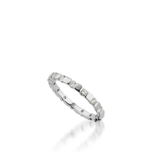 Women's 18 karat white gold Orion Diamond Stack Ring