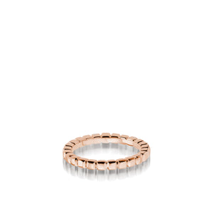Women's 18 karat rose gold Encore Gold Stack Ring