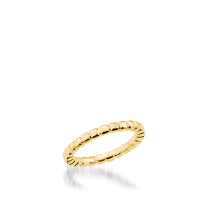 Women's 18 karat yellow gold Encore Gold Stack Ring