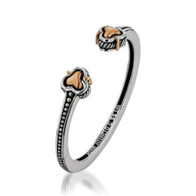 Load image into Gallery viewer, Women's Sterling Silver with 14 karat Rose Gold Apollo Hinged Cuff