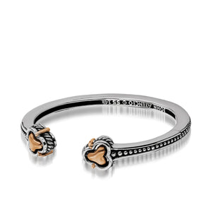 Women's Sterling Silver with 14 karat Rose Gold Apollo Hinged Cuff