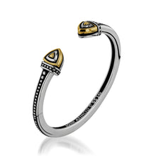 Load image into Gallery viewer, Women's Sterling Silver and 14-karat yellow gold Arrivo Cuff