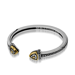 Women's Sterling Silver and 14-karat yellow gold Arrivo Cuff