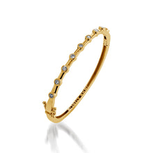 Load image into Gallery viewer, Women's 14 karat yellow gold Paloma Diamond Cuff Bracelet