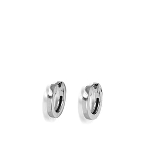 Essence Single White Gold Hoop Earrings