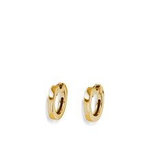 Load image into Gallery viewer, Essence Single Yellow Gold Hoop Earrings